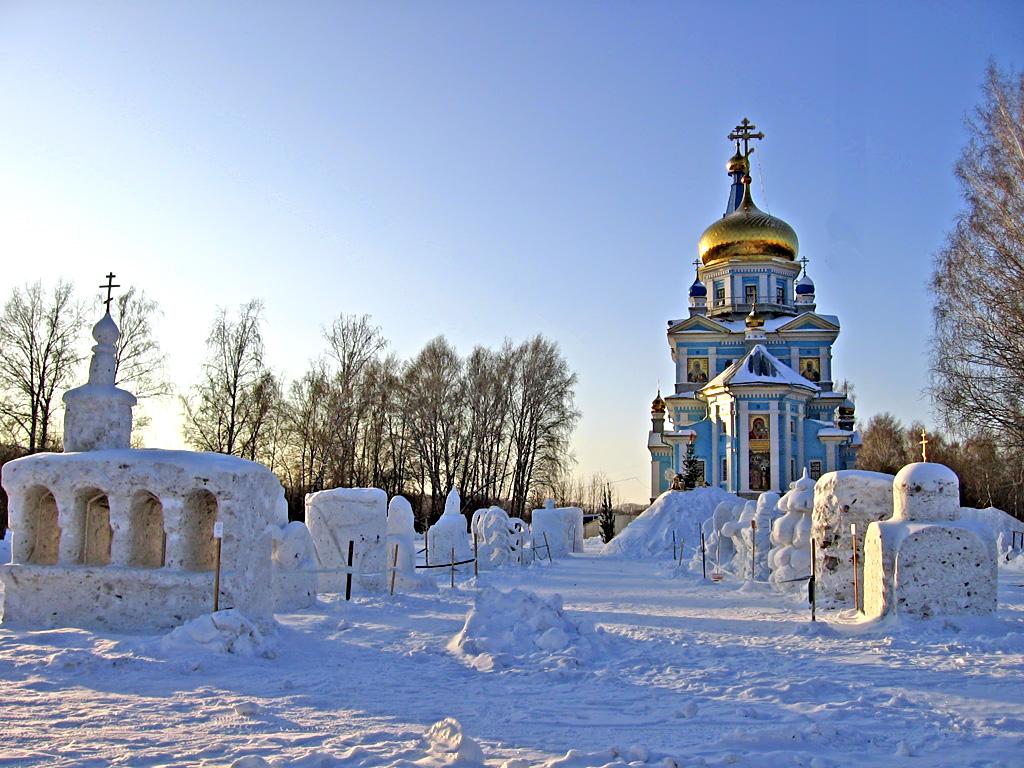 IV Рождественский фестиваль снежной скульптуры в Краснообске