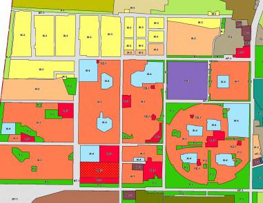 Карта до переделки плана застройки