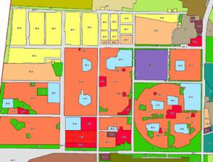 Карта после переделки плана застройки